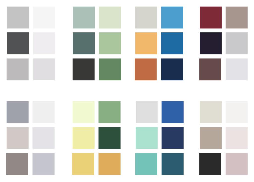 Przykładowe palety kolorystyczne